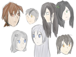 Warrior Cat Humans Sketches (two) by Moonleaf1