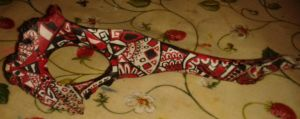 Red and Black (Bone Painting) by Perianth5