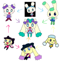 Tamagotchi Hexafusion by HeroineMarielys