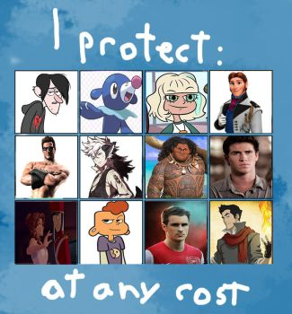 I Protect These Characters by VelociPRATTor