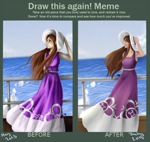 Draw this again meme - Ocean Waves by EllenorMererid