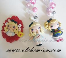 Cartoon Necklace 4 by AlchemianShop