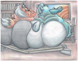 Fat Mark And Fat Zaedrin Playing Some Video Games. by Virus-20