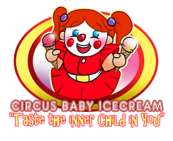 Circus Baby Ice Cream Logo by MasterOhYeah