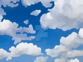 Cloud and Sky Background by WhitePatched