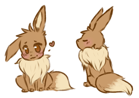 Eevees by SpectralCoyote