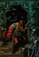 Hellboy, colors work by WhiteV