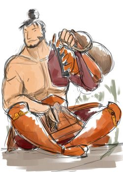[Sketch] The Bushi by The-Big-Pumpkin-Inc