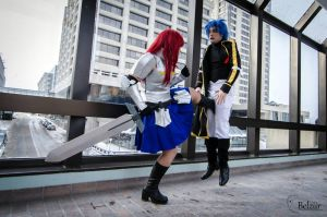 Erza vs Jellal - 2 by Elandhyr