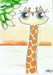 funny cat is a giraffe by KingZoidLord