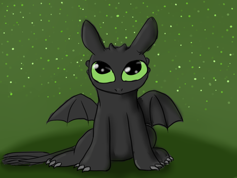 Baby Toothless! by Heart-Berry