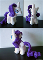 Rarity Plush by naox