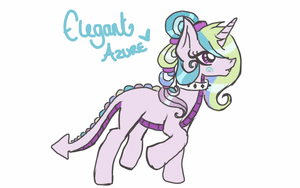 Chaos is magic: Elegant Azure by luxrayfan33