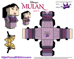 Disney Princess Mulan Cubeecraft Purple Dress pt2 by SKGaleana