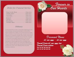 White Rose Funeral Program Template Word by sammbither