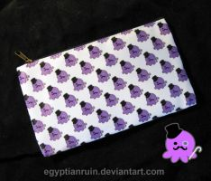 Gentleman Octo Pattern Zipper Pouch by egyptianruin