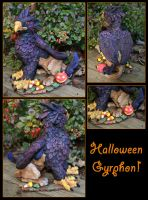 Halloween Gryphon by CandaceBell