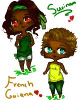 LM: Suriname and French guyana by chibi098