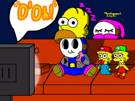 Watching Big Marathon by MarioSimpson1