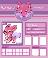 Fuchsia ID :FoxPond Form: by RoseyWingedCat