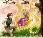 Tangled Anime Style by chikorita85