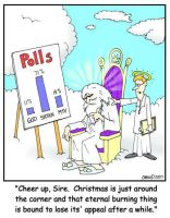 God in the Polls cartoon by Conservatoons
