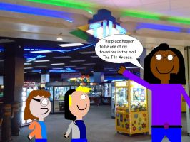 Showing Ron and Heather the mall by mylesterlucky7