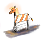 Construction Horse by Astrikos