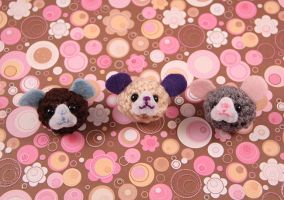 Amigurumi Mouse Magnet Set by AmiTownCreatures
