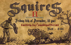 Squires event poster - Twitch - vooblyofficial by DevilAntRat