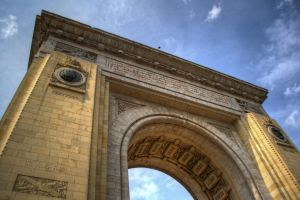 Triumphal arch Bucharest HDR by Petre21