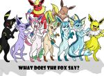 Eeveelutions - What Does the Fox Say? by HolderofTruth