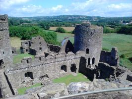view from the Kidwelly Castle tower3 by Rashirou