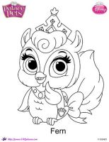 Princess Palace Pet Fern coloring Page by SKGaleana