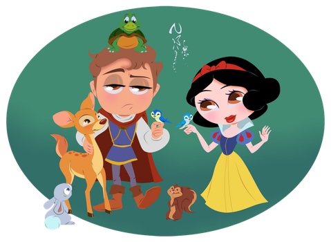 Snow White and her Prince by Nippy13