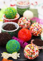Fun Sprinkle White Chocolate Balls by theresahelmer