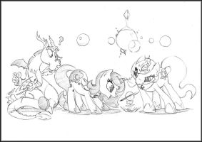 MLP:FiM - Kid-scord and friends by zillford