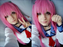 Yui - Angel Beats - Test by JessicaUshiromiyaSan