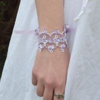 Guinevere fantasy lace up cuff by TataniaRosa