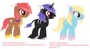 Pony Adoptables ~CLOSED~ by IxKawaii