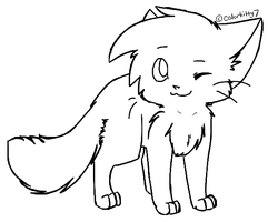 Free Kitten Lineart by Snow-Berries