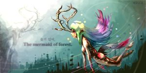 The mermaid of forest by lekosk2001