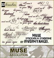 Muse Text Brushes - set 2 by RandyStoleMyKeys