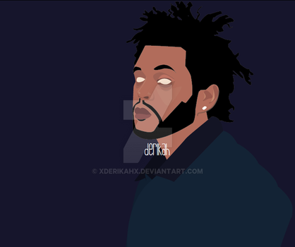 The Weeknd Vector WIP by xderikahx
