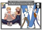 The Difference Between: Al,Matt and Vencher Bros by NFGNarutoFanGirl