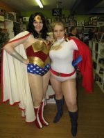 Wonder Woman and Power Girl by Wiccanslyr