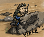 Fallout shelter. Successfully hide from raiders by Mrakoboy