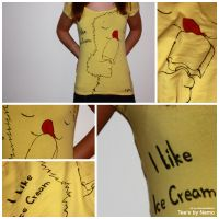 I Like Ice Cream - Yellow Tee by nemo-animations