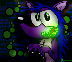 Glow In The Dark Fangs by DragonRichard