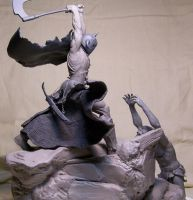 Frazetta's Death Dealer side by chrisgabrish